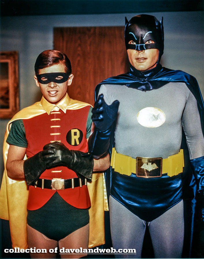 Burt Ward and Adam West Batman photo
