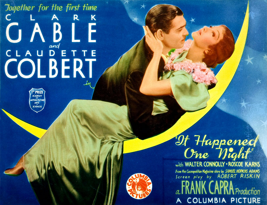 Clark Gable Claudette Colbert It Happened One Night lobby card photo