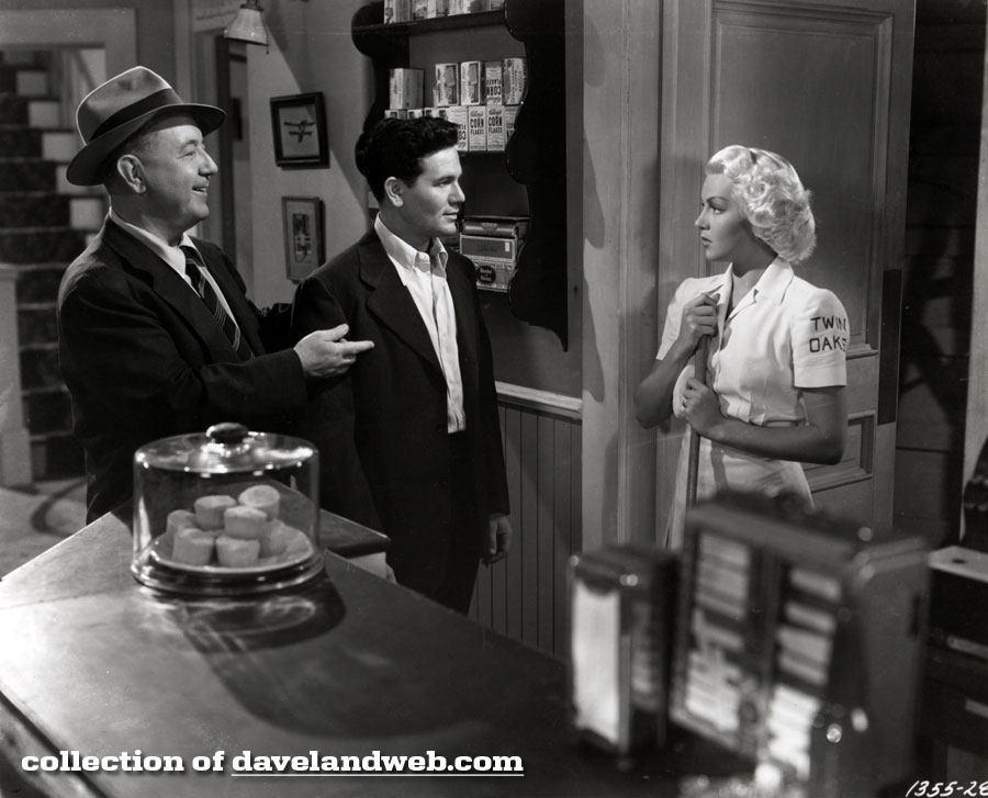 Cecil Kellaway, John Garfield, and Lana Turner in The Postman Always Rings Twice photo