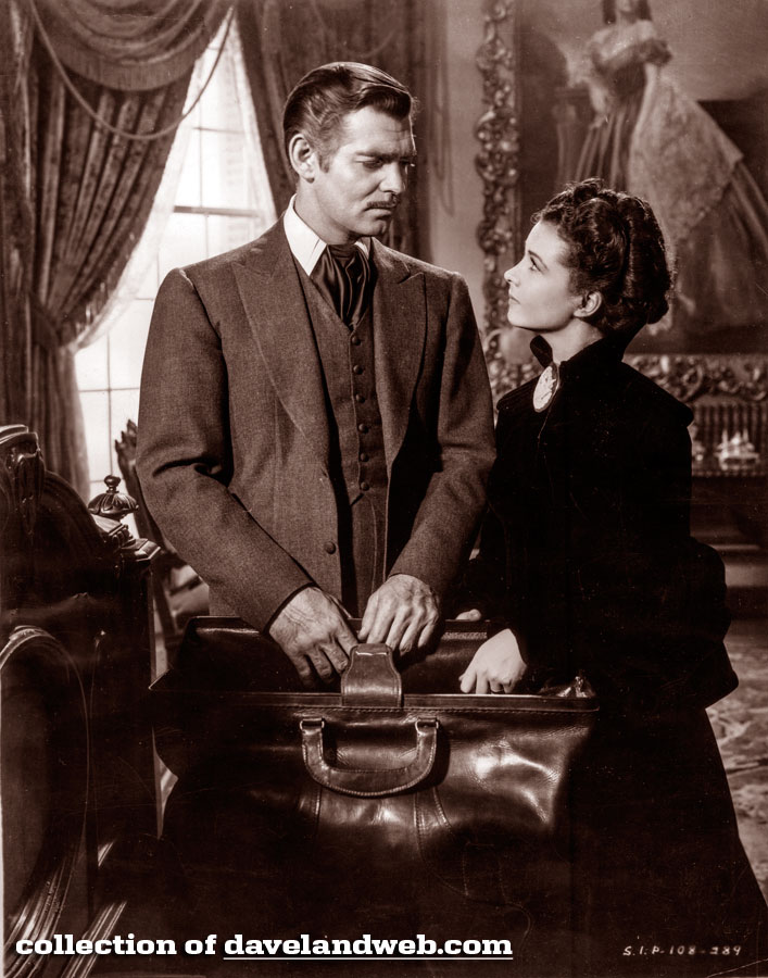 Clark Gable and Vivien Leigh in Gone With The Wind photo