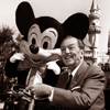 Central Plaza with Walt Disney and Mickey, October 1966