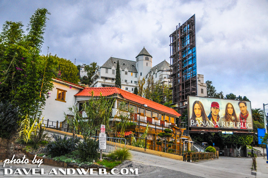 Chateau Marmont and Pink Taco on Sunset Boulevard photo, 2013