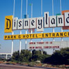 Disneyland entrance sign photo, September 1964