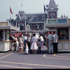 Disneyland entrance and ticket booth, July 1961 photo