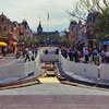 Disneyland Main Street U.S.A. February 1982 construction photo