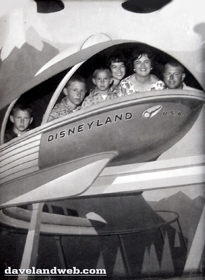 Disneyland Monorail cutout vintage souvenir photo