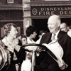 President Eisenhower at the Disneyland Fire Department, 1961