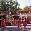 Disneyland Town Square Party Gras Parade 1990 photo