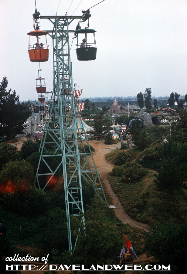 Disneyland Skyway and that mound of dirt