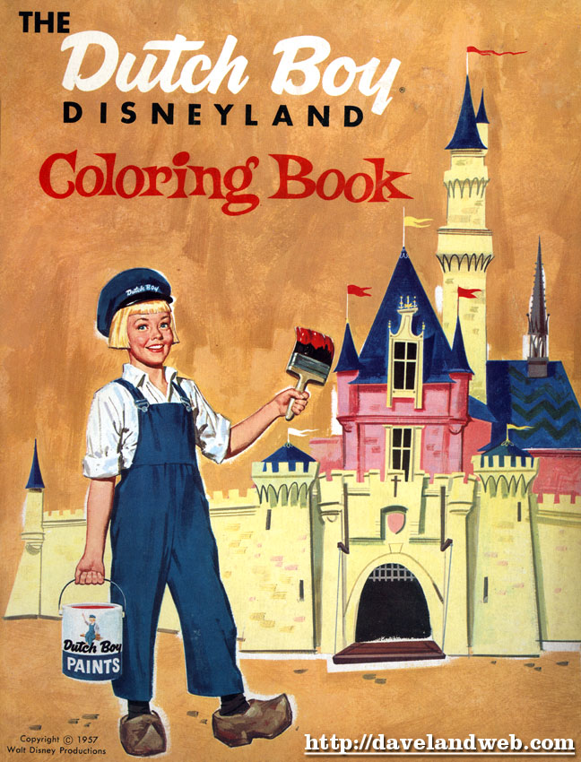 Dutch Boy Paint Disneyland Coloring Book