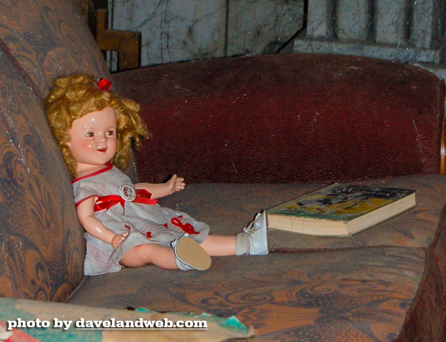 Disney California Adventure Tower of Terror Shirley Temple doll in lobby photo