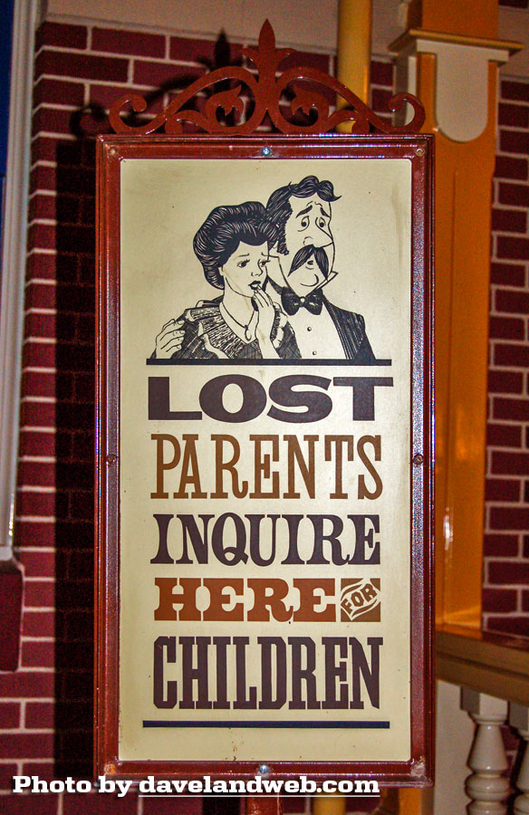 Disneyland Lost Parent sign