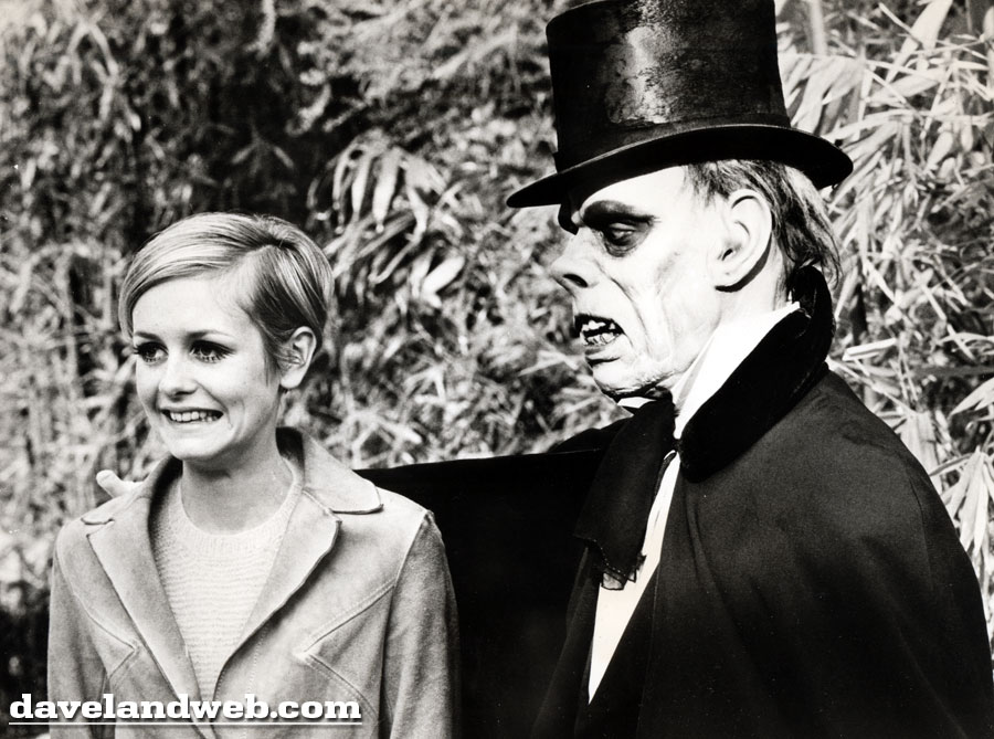 Disneyland vintage photo of model Twiggy and Phantom of the Opera, 1967
